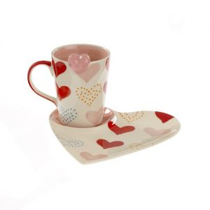 At Home in the Country - Heart Mug and Plate
