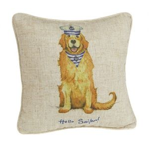At Home in the Country - Hello Sailor! Linen Mix Cushion