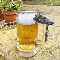 Horse Glass Pint Tankard