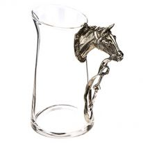 Horse with Bridle Glass Jug