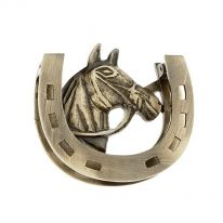 Horse with Horseshoe Door Knocker