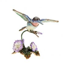 Hummingbird Enamel Bird Box
