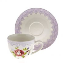 Hummingbird with Roses Cup and Saucer