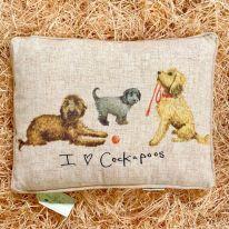 I (heart) Cockapoos Linen Mix Cushion