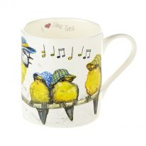 """I Love Blue Tits"" Fine Bone China Mug"