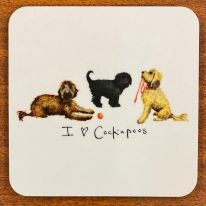 I love Cockapoos Coaster