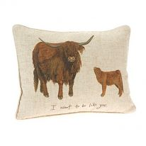 """I Want To Be Like You"" Linen Mix Cushion"