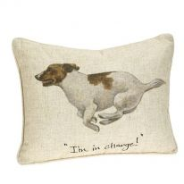 """""""I'm in Charge!"""" Linen Mix Cushion"""