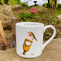 In the Garden Robin Mug
