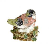 Jewelled Enamel Fledging Box
