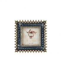 Jewelled Enamel Square Photo Frame
