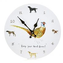 """Keep Your Head Down!"" Wall Clock"