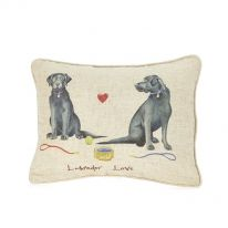 Labrador Love Linen Mix Cushion