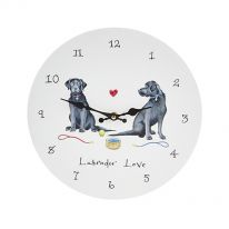 Labrador Love Wall Clock