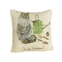 """Lady Gardener"" Linen Mix Cushion"