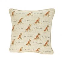 Large For Fox Sake! Linen Mix Cushion