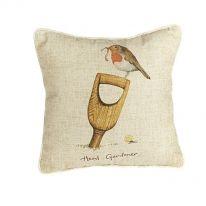 "Large ""Head Gardener"" Linen Mix Cushion"
