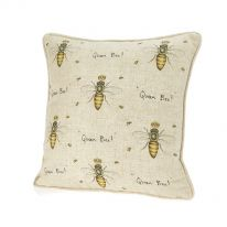 Large Queen Bee! Linen Mix Cushion