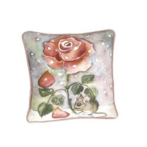 At Home in the Country - Last Rose of Summer Cushion