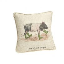 Let`s Get Dirty Piggy Cushion