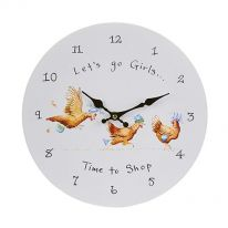 Lets Go Girls.....Time to Shop Wall Clock
