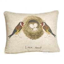 """""""Love Nest"""" Linen Mix Cushion"""