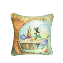 Mad Hatter's Tea Party Cushion