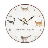 Magnificent Moggies Wall Clock