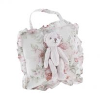 """Minnie"" Bear on Cushion 15cm"