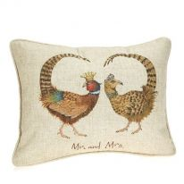 Mr and Mrs Linen Mix Cushion