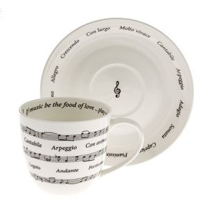 At Home in the Country - Music Notes Cup & Saucer