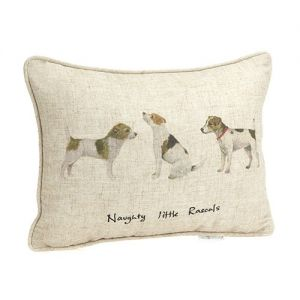At Home in the Country - Naughty Little Rascals Cushion
