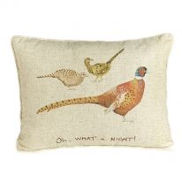 """Oh What a Night!"" Linen Mix Cushion"