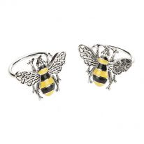 Pair of Bee Enamel Napkin Rings