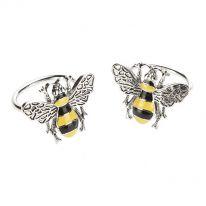 Pair of Bee Enamel Napkin Rings