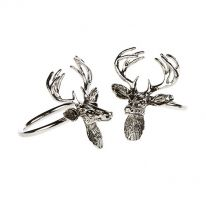 Pair of Stag Napkin Rings
