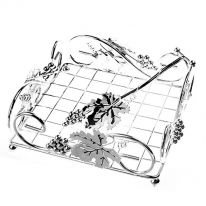 Paper Napkin Holder with Grapes and Leaf Design