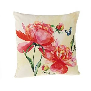 At Home in the Country - Peony 100% Cotton Cushion