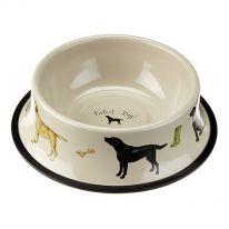 """""""Perfect Dog"""" Tinware Dog Bowl"""