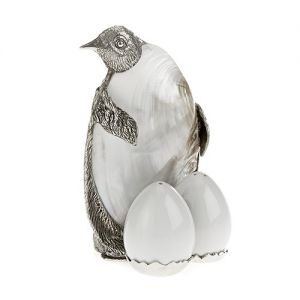 At Home in the Country - Pewter Penguin Salt and Pepper Set