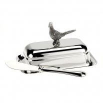 Pheasant Butter Dish and Spreader