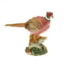 Pheasant Enamel Bird Box
