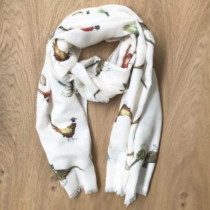 At Home in the Country - Pheasant Scarf
