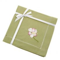 Pink Orchid Flower Napkin