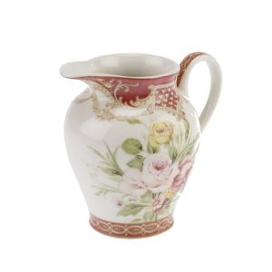 At Home in the Country - Pink & Yellow Tea Rose Jug