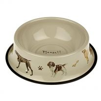 Please! Dog Tinware Bowl