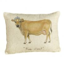 """Posh Cow!"" Linen Mix Cushion"