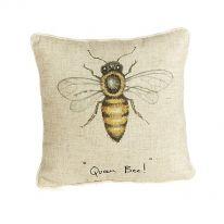 """""""Queen Bee"""" Linen Mix Cushion"""