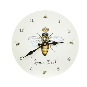 At Home in the Country - Queen Bee! with Crown Wall Clock