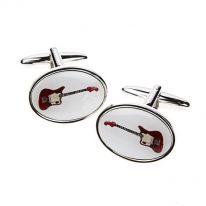 Red Guitar Cufflinks